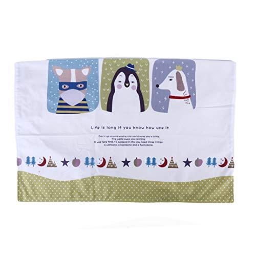 Weryffe - Funda para TV con diseño de pingüino y pingüino, poliéster, Verde, L * W: 77 * 49.5cm