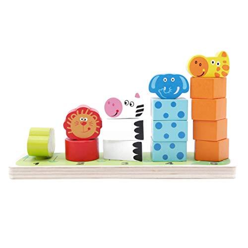 JOOFFF Tier Jenga Farbe Tier Montage Puzzle Block Löwe Frosch Giraffe Zebra Holzblock Spielzeug Kid Lernspielzeug Für Kindergarten