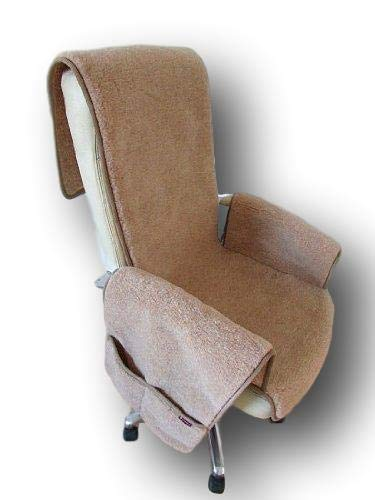 Sesselschoner aus Wolle mit Taschen Sesselauflage Überwurf Schurwolle