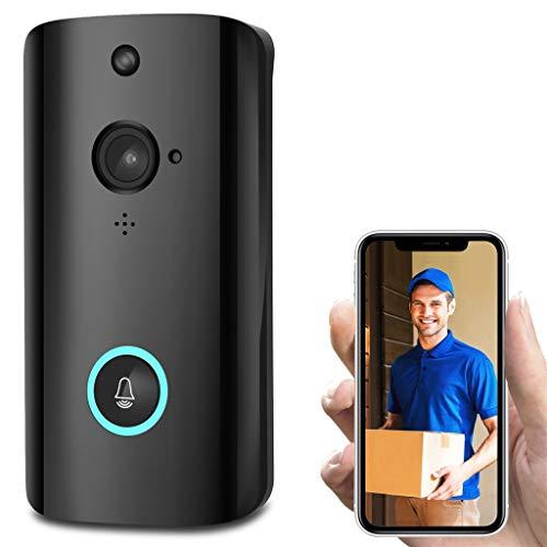 Video Doorbell Video Türklingel 2 1080p HD-Video, Gegensprechfunktion, Bewegungsmelder, intelligente WLAN, Kamera-Nachtsicht (Black) - Intelligentes Video