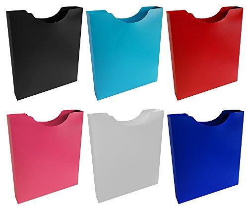 Stylex Heftbox A4+ 6 Stück farbig sortiert zur Aufbewahrung von Heften Blöcken Schnellhefter im Schulranzen