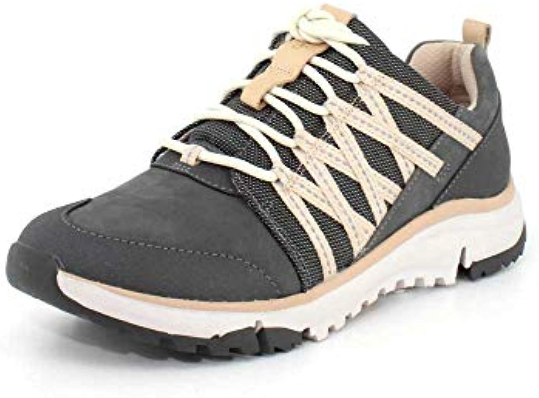 Clarks donna Tri Trail Dark grigio Combi scarpe da ginnastica - 9.5 | Di Qualità Superiore  | Scolaro/Ragazze Scarpa