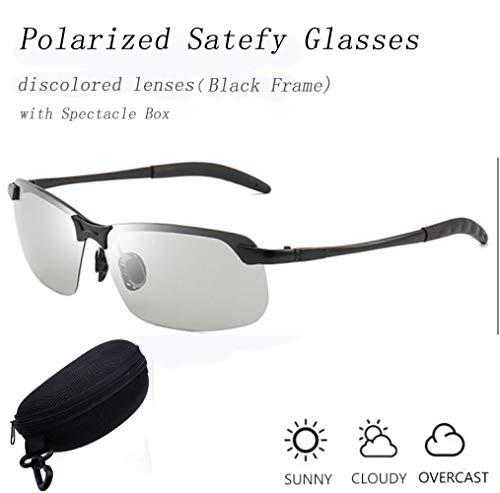 MASO Herren Sonnenbrille Black Frame Discolored lenses