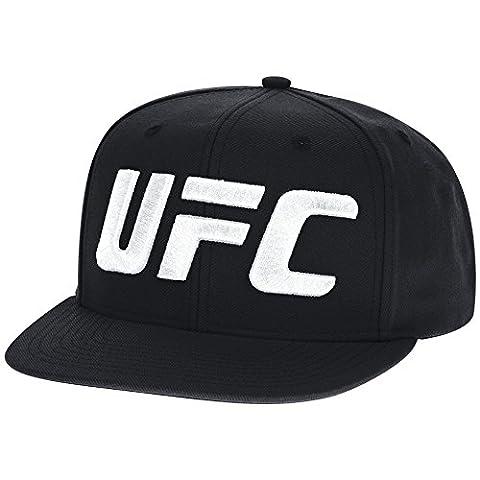 UFC Men's Fight Week Fighter Flat Brim Snapback Cap, One Size, Black