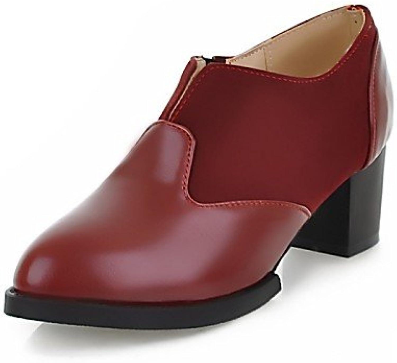 ZQ Zapatos de mujer - Tacón Robusto - Tacones / Puntiagudos / Punta Cerrada - Oxfords - Oficina y Trabajo / Casual...