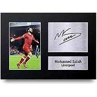 HWC Trading - Fotografía impresa para regalo tamaño A4 con autógrafo de Mohamed Mo Salah del