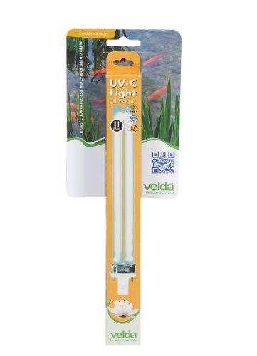 Velda 126620 Ersatz-UV-C Lampe für Elektronische Entferner gegen Grünalgen im Teich, UV-C PL Lampe 11 Watt -