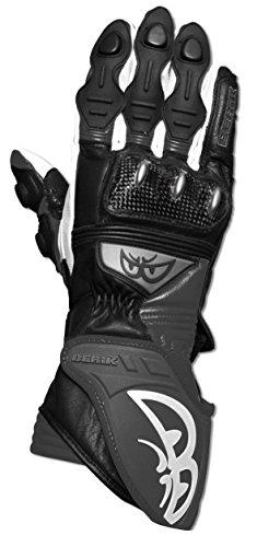 BERIK G-4924-BK Handschuh schwarz/weiss S