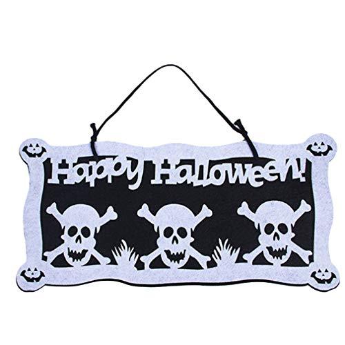 HENGSONG Halloween Banner Fledermaus Kürbis Elemente Wand Tür -