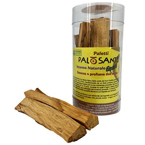 Incienso Natural Palo Santo - Palitos Variedad Especial - gr. 55-65 - Aroma para la meditación, la Lectura, la relajación - Original Bursera Graveolens