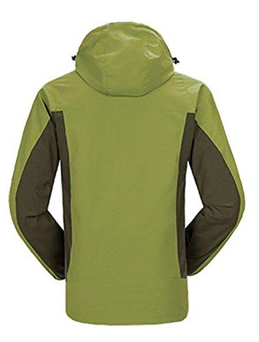 MatchLife Unisex paio antivento montagna escursionismo Sport Coat Jacket Army Green-Men-2
