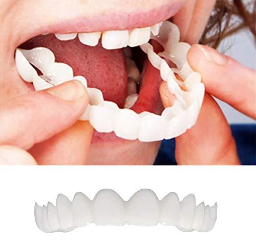 HYGLPXD Oben und Unten,Provisorischer Zahnersatz, 2 Stück kosmetische Zahnmedizin Snap auf Instant perfekte Lächeln Comfort Fit Flex Zähne Veneers Zähne kosmetische -