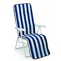 Best 34306802 silla de jardín - sillas de jardín (Salón, Sólido, Asiento acolchado, 2 cm) Azul, Color blanco