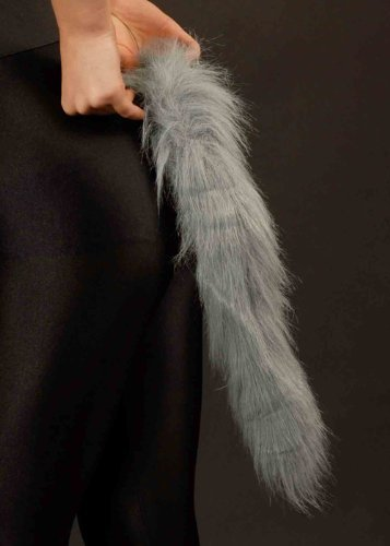 Halloween Grey Furry Werewolf Tail by Bristol -
