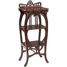 Tavola di legno in stile antico tavolo Telefono mensola laterale armadio tavolo
