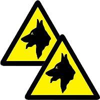 2 grandi allarme di sicurezza per cani-Adesivi per auto, confezione da 2 pezzi, motivo: Van Decals