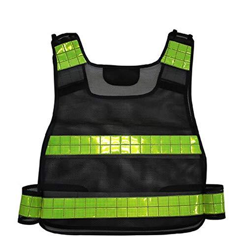 Shoppinglyw Warnweste Weste Sicherheitsbekleidung REIT Anzug Reflektierende Kleidung Straßenbau Netzwerkverkehr Straße / 22x17inches (Color : Black, Size : One Size)