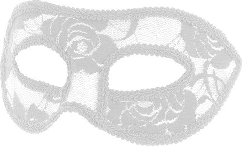 Smartfox Fasching Karneval Venezianische Maske mit Spitzen in (Spitze Maskerade Weiße Masken)