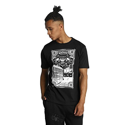 Dangerous DNGRS Herren Oberteile / T-Shirt Rocco Kingstyle Schwarz