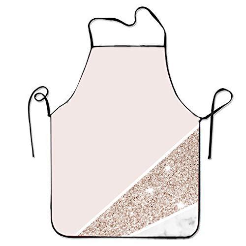 Gorgeous practical goods Superbe Tablier de Cuisine en marbre doré Rose pour Homme et Femme avec Sangle de Cou réglable pour Cuisiner Barbecue Barbecue Barbecue