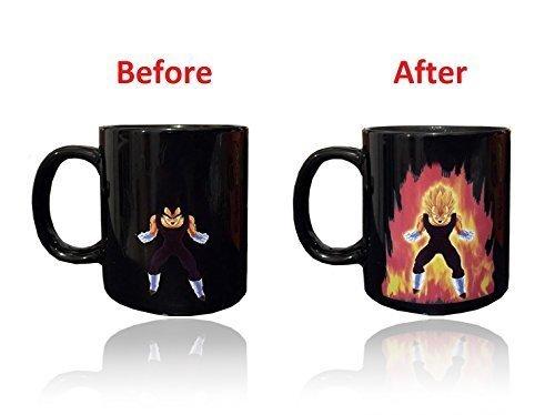 Dragon Ball Z chaleur réactive Changement de couleur tasse à café, Vegeta