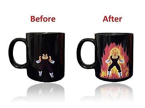 Dragon Ball Z chaleur réactive Changement de couleur tasse à