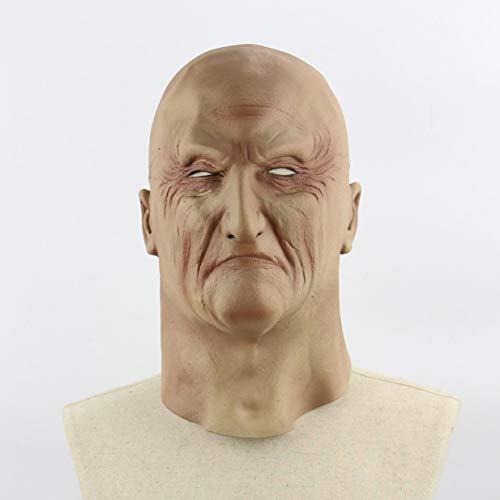 Beängstigend Kostüm Männer - Sairis Halloween gruselig schrecklich beängstigend realistisch schrecklich Alter Mann Maske Cosplay Kostüme Party Requisiten Maskerade Lieferungen