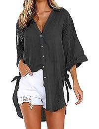 c184d2cf7 Blusa de Mujer BaZhaHei Camisa de Manga Larga para Mujer Formal Oficina  Trabajo Uniforme Señoras Casual