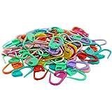 Egurs 50 Pezzi Colorful Plastic Knitting Weave Crochet Stitch Lock Needle Clip Markers Holder Hook