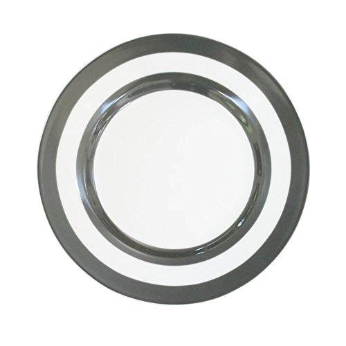Krasilnikoff Assiettes Stripes Charcoal