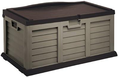 Auflagenbox /Gartenbox/Kissenbox LARGE MIT SITZFLÄCHE ca. 119 x 62 x 63.5 cm/ Farbe: mocca-braun von Starplast