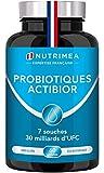 Probiotiques 30 milliards UFC/jour enrichis en prébiotiques - multi-souches des ferments lactiques les plus actives dont Lactobacillus - Gélules végétales gastro-résistantes - Confort digestif - ACTIBIOR NUTRIMEA - Fabriqué en France