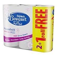 Sanita Bouquet Paper Kitchen Towel,28CM 2+1 FREE Roll
