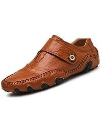 Zapatos de Cuero Hechos a Mano Moccasin-Gommino Hechos a Mano para Hombres Mocasines Mocasines Zapatos de Negocios Zapatillas de…