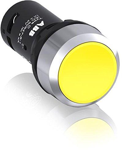 Abb-entrelec pda - Pulsador rasante momentaneo aro metalico/a 1na+1nc amarillo