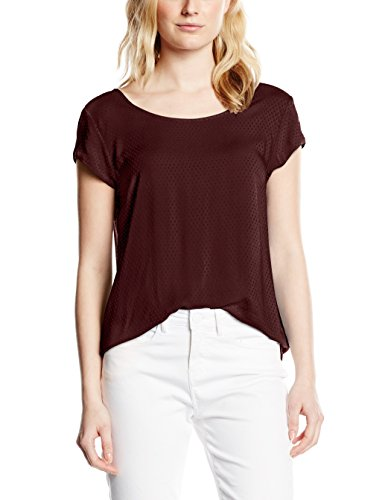 Opus Fjelmi dot - T-Shirt - Femme Rouge - Rot (dark port 4057)