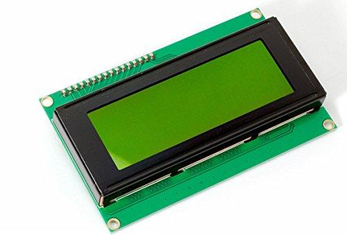 Zeichen 20 (I2C 2004 20x4 Zeichen LCD Display screen HD44780 gelbes BL für Arduino Raspberry Pi)