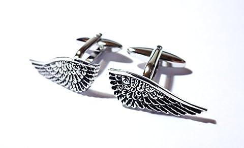 Tailor B 3D Angel's Wings Cufflinks Soaring Cuff Links Gemelos Manschettenknöpfe