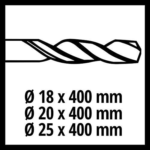 Einhell SDS-max Bohr-und Meisselset passend für Bohrhammer (5-teilig, Meissellänge 40 cm, Bohrer: Ø 18, Ø 20, Ø 25, Flachmeissel, Spitzmeissel)