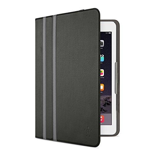 Belkin Universal Twin Stripe Schutzhülle (für Tablets, Apple iPad Air, iPad Air 2, iPad 2017, Samsung Galaxy Tab A (10 Zoll), Tab S2 (10 Zoll)) schwarz
