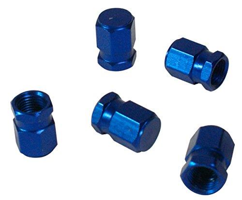 CORA 000120649 5 Pezzi Tappi Valvola Universali, Blu