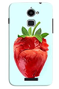 Omnam Red Stawbaries Printed Back Cover Case For Coolpad Note 3 Lite