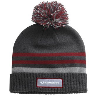 2015-taylormade-double-knit-thermal-striped-beanie-golf-mens-bobble-hat-grey