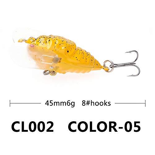 L-MEIQUN, Angeln Insekt lockt Grasshopper Isca künstliche Wobbler Mist Angelgerät Pesca Black Minnow harten Köder Bass (Color : 15) -