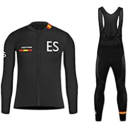 Uglyfrog 2018-2019 Nieuwe MTB-kleding voor heren Winter Keep Warm Long Sleeve Maillot Cycling Man Bodies + Long Bib Pant met Gel Pad Winter Style
