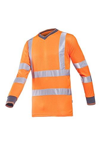 Preisvergleich Produktbild Frederik Sioen 3890a2mv1fc1l Bresso T-Shirt, groß, Hi-Vis Orange (10Stück)