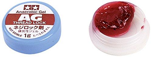 TAMIYA 300054032 - AG Schraubensicherungslack Gel 1 g, rot (Schraubensicherungslack Roter)