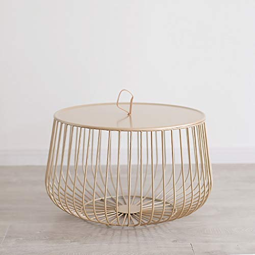 Geometrische runde Verschachtelung Akzent Tabellen Metall Side End Tisch Stehen dekorative Nachttische Pflanze Stand Stuhl für Schlafzimmer Wohnzimmer und Terrasse (Color : Golden, Size : Big) (Akzent-stuhl-tabellen)