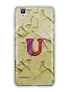 YuBingo Monogram with Beautifully Written Funky Colourful Paint Finish letter U Designer Mobile Case Back Cover for Oppo F1 / A35