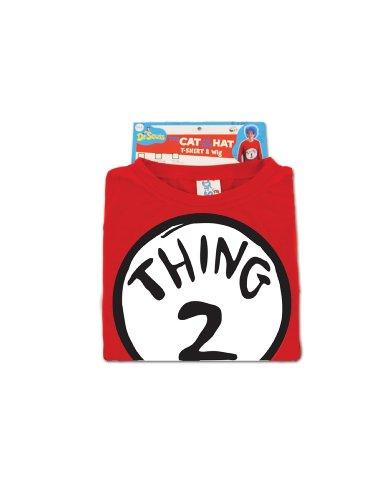 stume Shirt Adult XX-Large (Dr Seuss Thing 2 Kostüm)